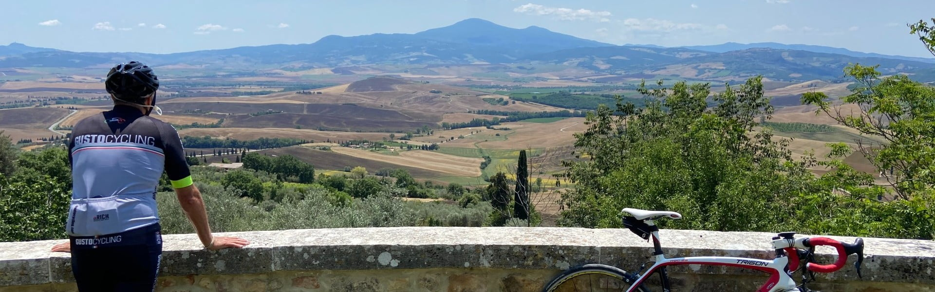 Tuscany Cycle Tour - view from Pienza