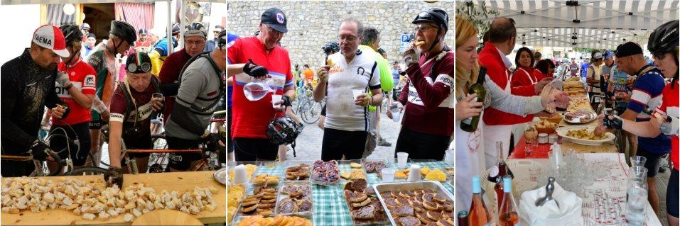 Food Stand at L'eroica Tuscany event