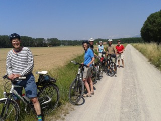 Danish Cyclists On Holiday In Tuscany