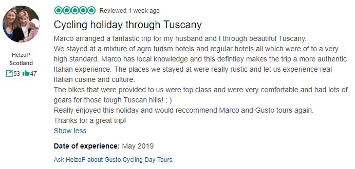 Cycling Holiday in Tuscany - Tripadvisor Review