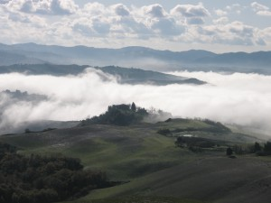 San Gimignano In Cloud Cover