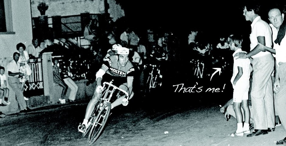 B:W Eddie Merckx and Marco Mori