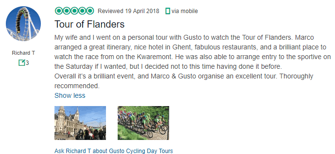 Flanders Tour, Belgium - GustoCycling