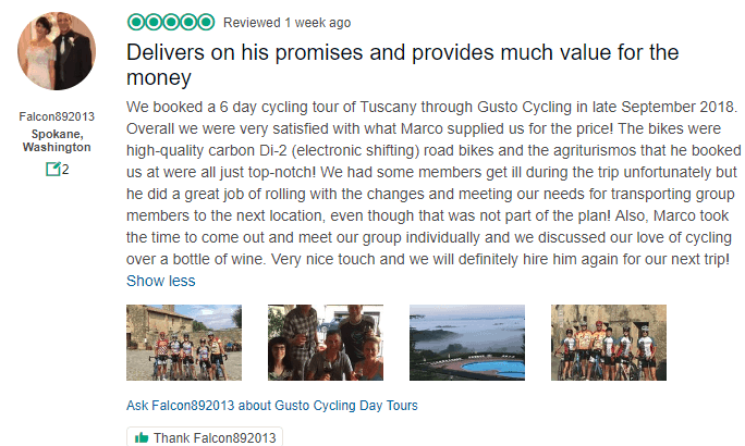 Tuscany Cycling Tour