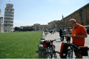 Family Cycling in Pisa
