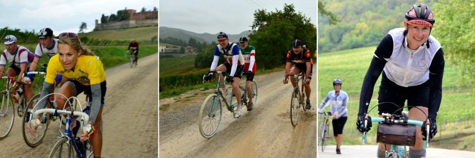 L'eroica cyclists