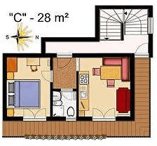 La Villa Tuscany - Self Catering Apartments - Apartment C