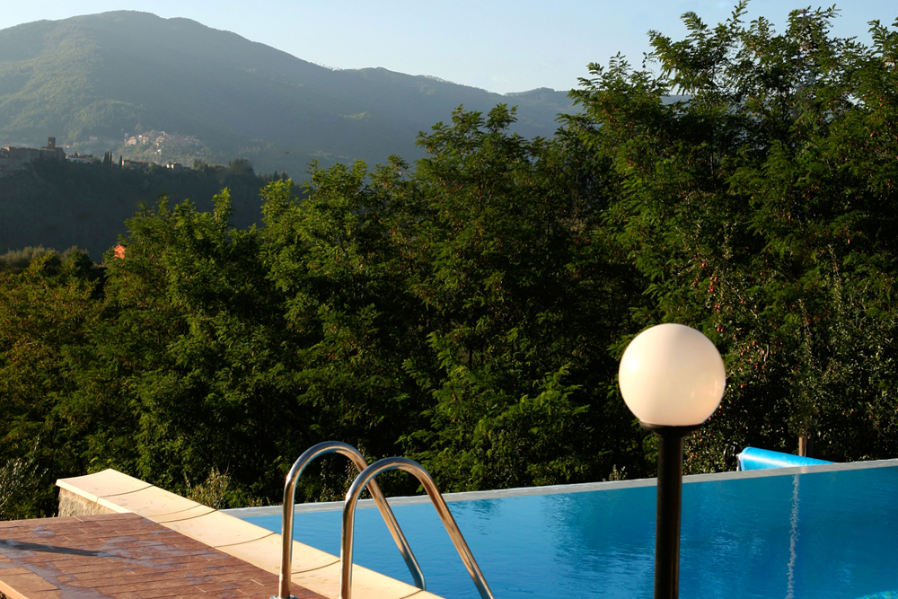 The pool in our luxury villa in Tuscany