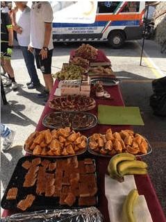Food provided for Gran Fondo
