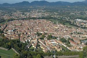 Ariel View of Lucca